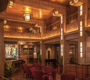 Built in 1929 the resort was designed by Albert Chase McArthur, a Harvard graduate, who had studied under Frank Lloyd Wright from 1907 - 1909 in Chicago. The lobby ceiling is gold leaf.