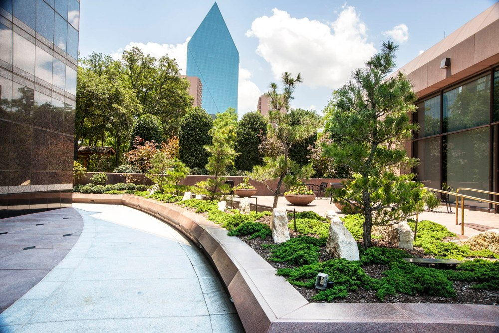 New Japanese garden surrounds Dallas high rise (1/6)