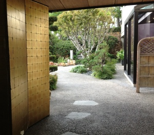 entryway to Kyoto Gardens at the Hilton DoubleTree in Los Angeles