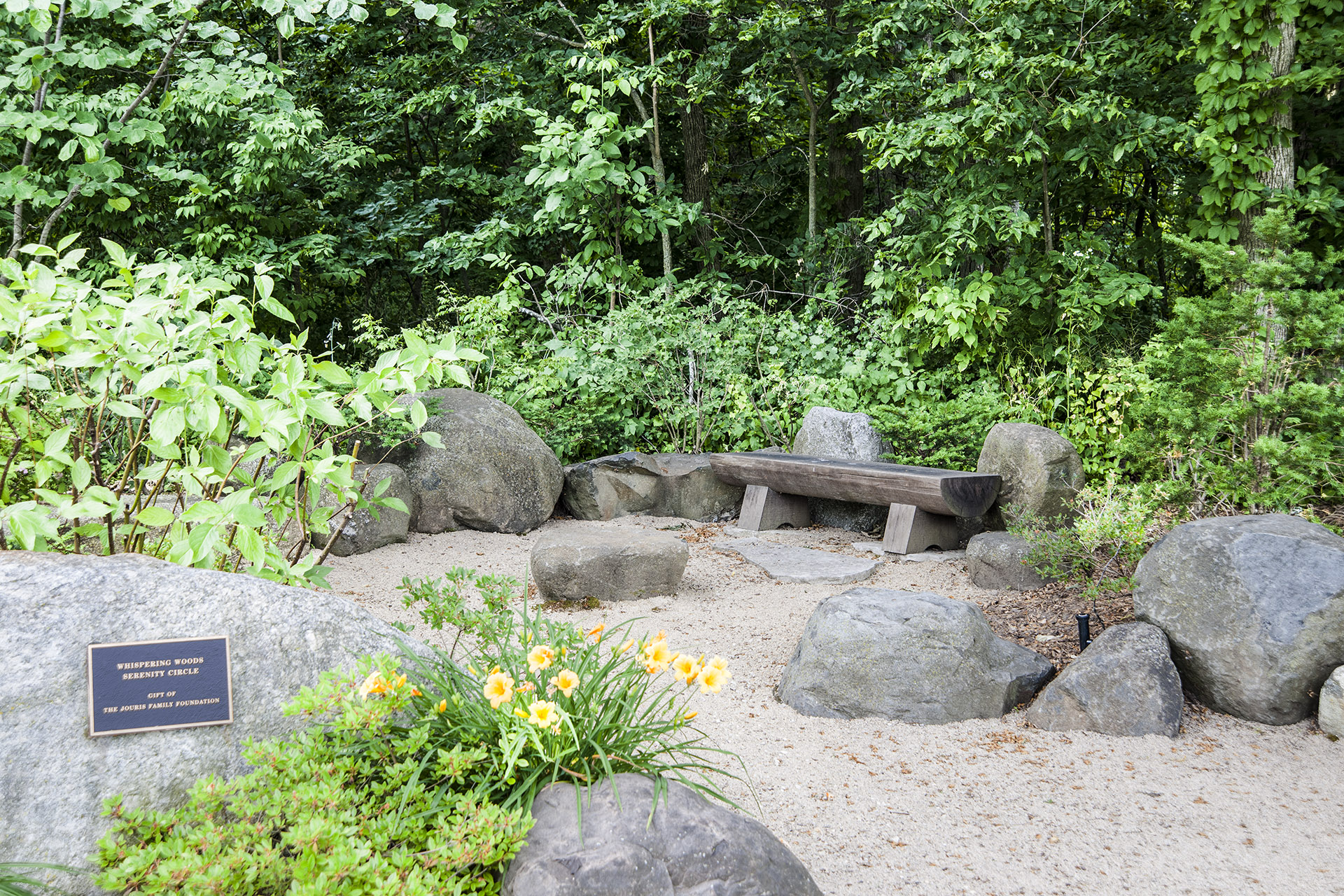 whispering woods serenity circle photo by bill f eger - Japanese Garden Stone Bridge