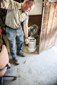 Benjamin Carroll in the tool shed