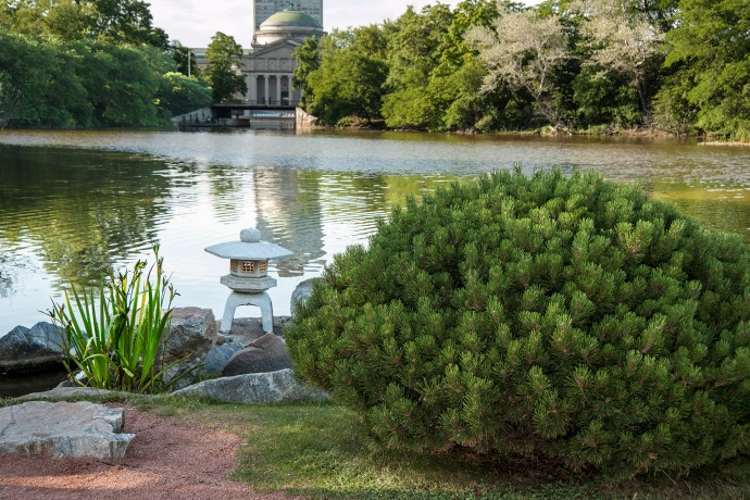 north end of Osaka Garden