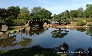 Osaka Garden pond and bridge
