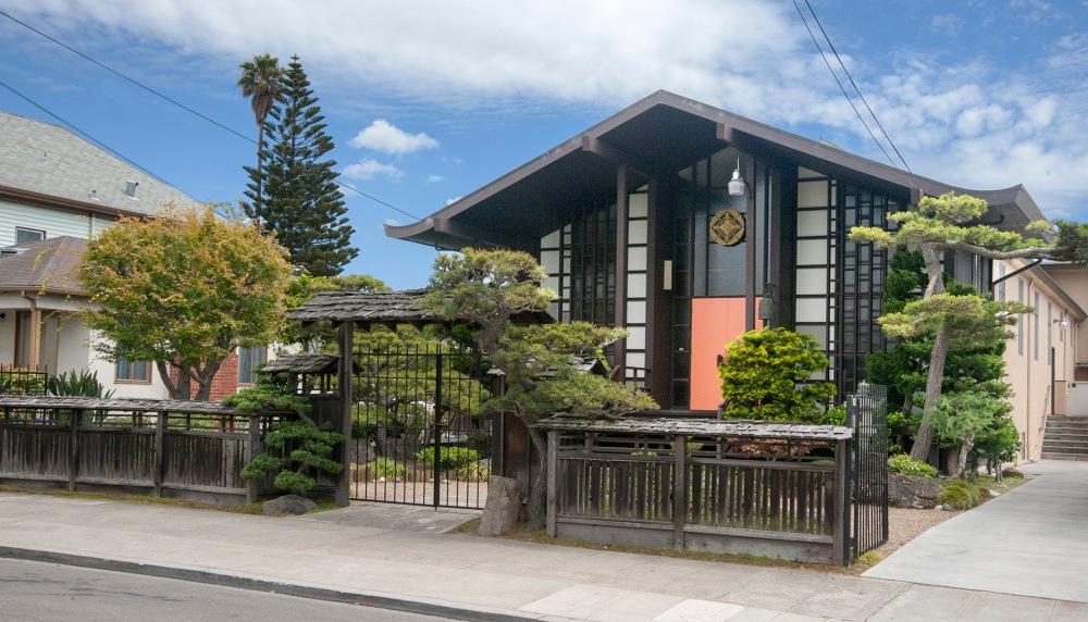 Berkeley Higashi Honganji Buddhist Temple garden evolved (1/6)