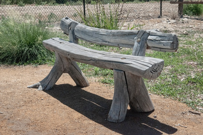 wooden log bench plans