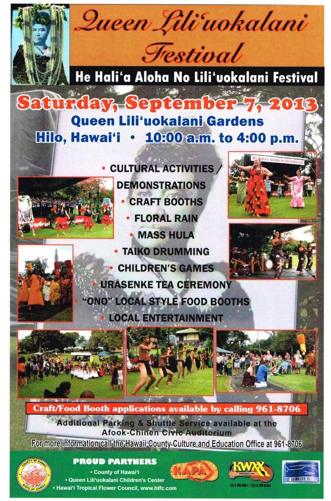 Festival in Hilo celebrates Queen Lili`uokalani's 175th birthday