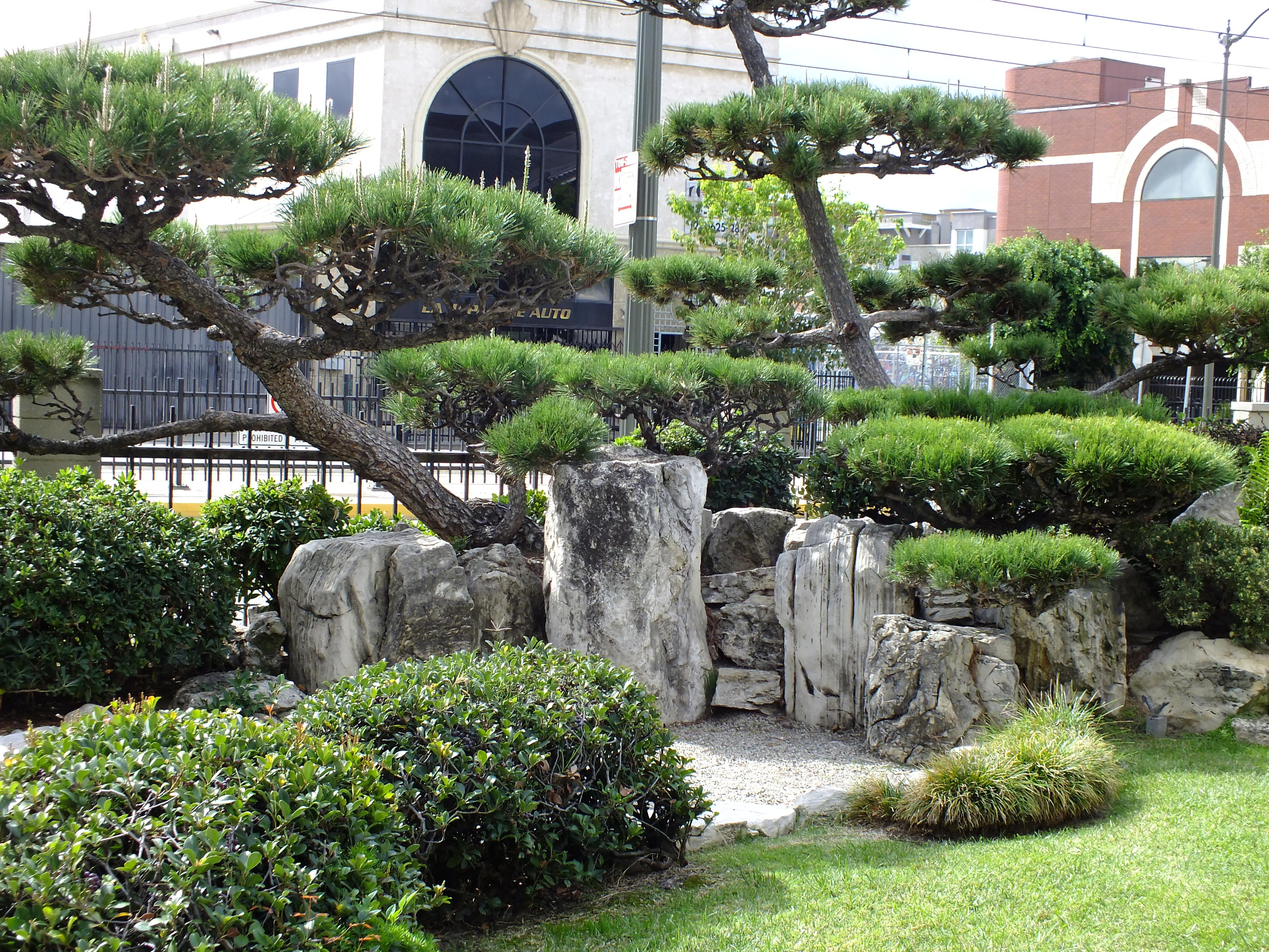 Los Angeles Japanese Garden: Short Walk In Los Angeles Yields Several Gardens