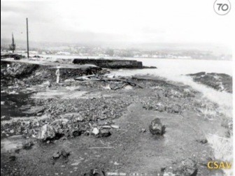 Lihiwai Street was reduced to rubble in the 1960 tsunami